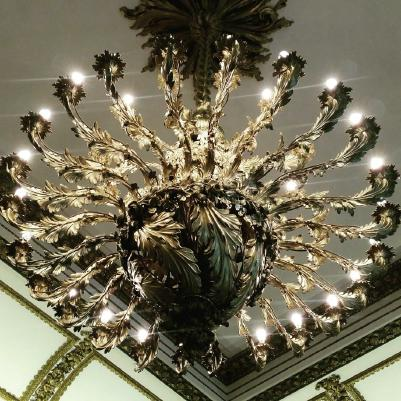 The shamrock of Ireland, the thistle of Scotland, the rose of England - this chandelier unites all three symbols.
