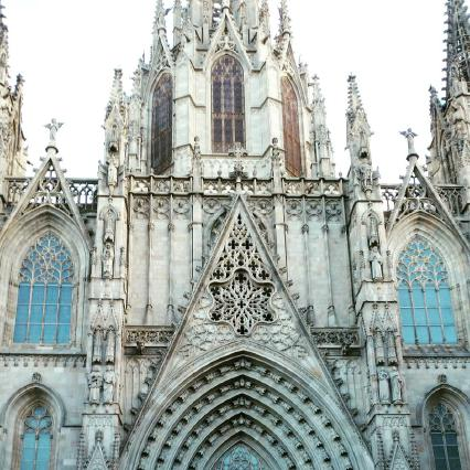 Cathedral of Barcelona in the Gothic Quarter