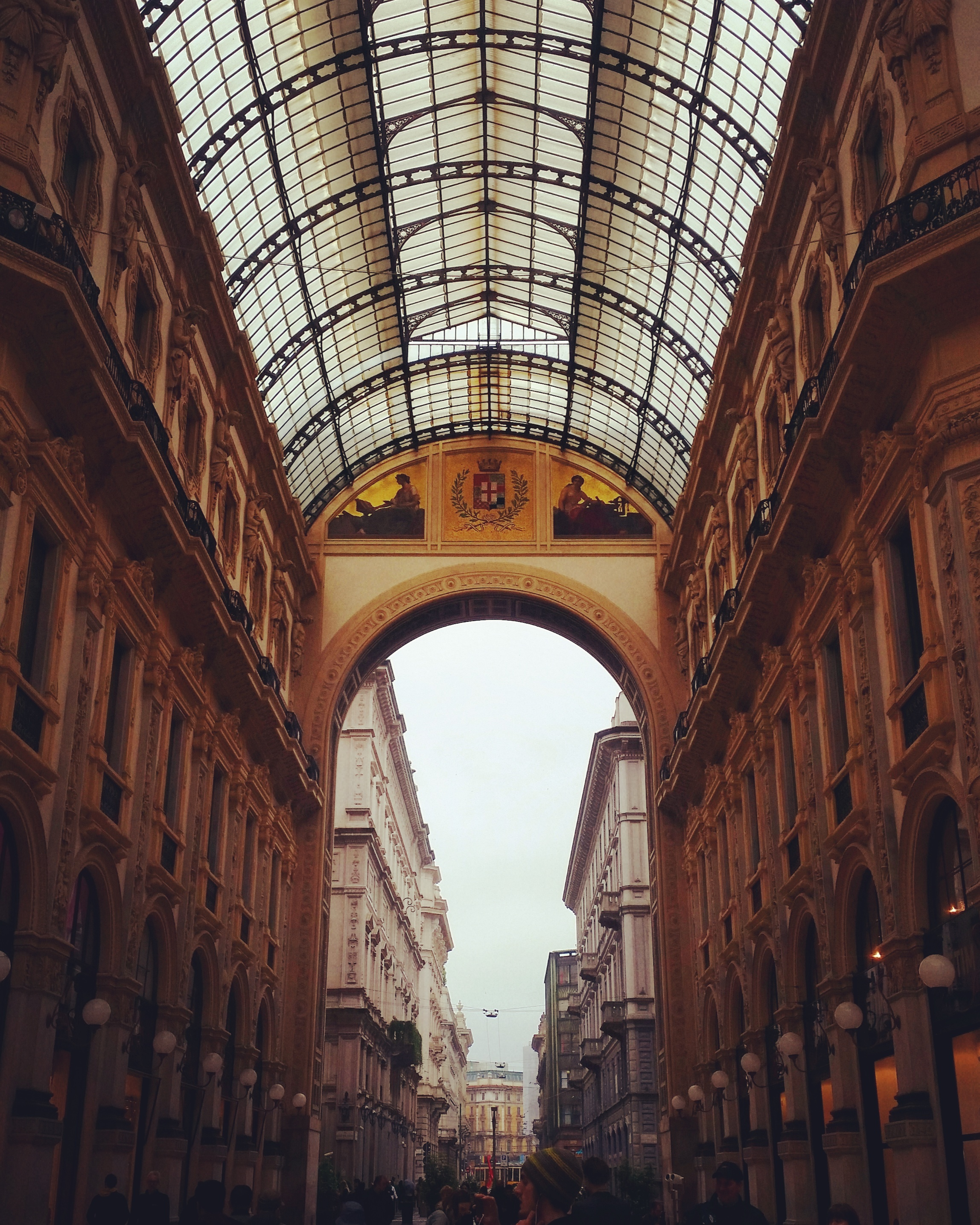 "The boulevard ""Vittorio Emanuele II"" with Louis Vitton, Gucci, Prada, etc."