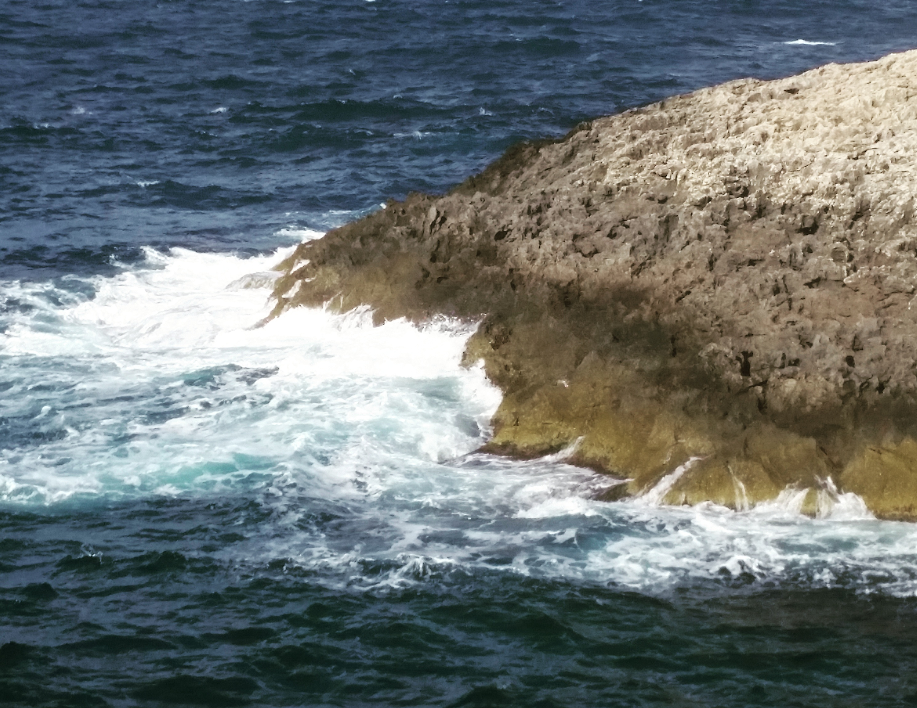Wild water at Blue Grotto